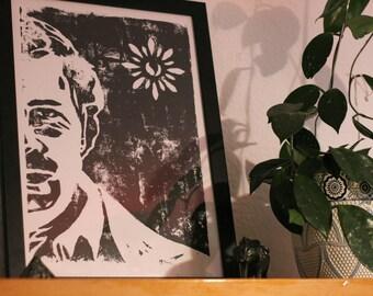 Pablo Escobar ( Digital print ) // Decoma. Digital file for download - Art, linocut, narcos, home deco
