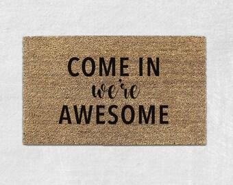 Cute Doormat - Cute Door mat - Funny Doormat - Funny Door mat - Funny Welcome Mat - Funny Rug - Front Door Mat - Housewarming Gift 053
