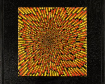 Painting: hot particle.