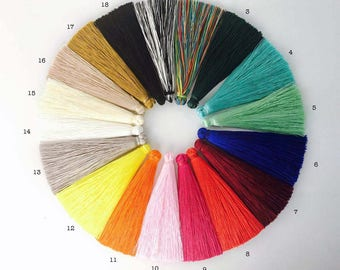 2pc 65mm Silk Tassels - Choose your colour