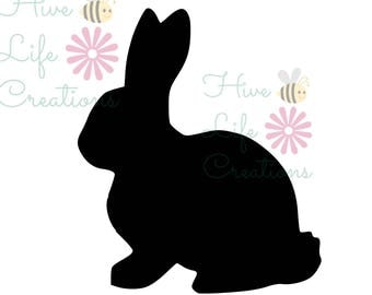 Bunny Rabbit Silhouette Instant Download * Rabbit Silhouette SVG File * Instant Download File * SVG DXF & Png File * Bunny Rabbit download