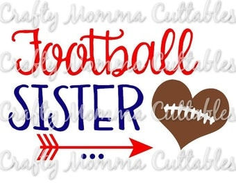 Football Sister SVG file // Baller Sister SVG // Sister Cut File // Ball sister Silhouette File // Cutting File // Little Sis SVG file