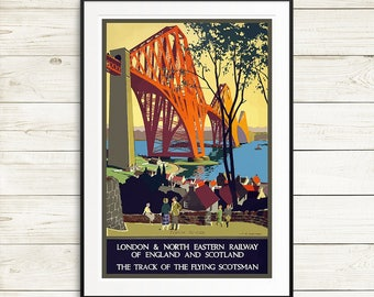 England travel posters, Scotland travel posters, vintage travel posters, travel poster sets, retro travel posters, vintage wall art prints