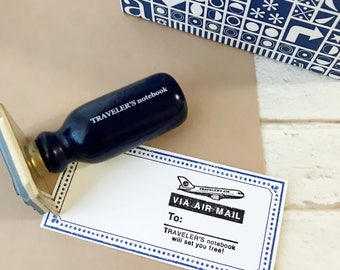Travelers Factory Stamp Air Mail Pattern
