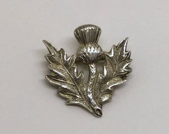 Sterling silver British thistle brooch #138
