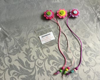 Flower Bookmarks 3 in a pack