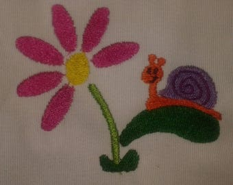SNAIL MACHINE embroidery (made to order)