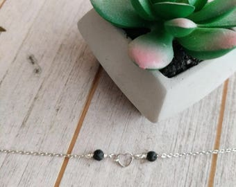 Tiny Heart LAVA Diffuser Necklace, dainty necklace, lava necklace, diffuser Necklace, minimalist jewelry