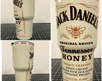 Jack Daniels Yeti 20 30 RTIC Cup Fully Wrapped