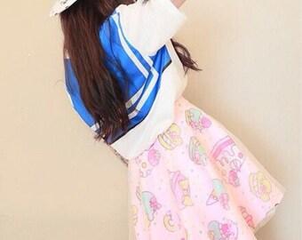 cake glitter tulle overlaid skirt lolita style