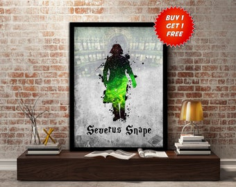 Severus,Snape, Print, Poster, Fan Art, Harry Potter, Half Blood Prince, Slytherin, Hogwarts, Always, Teacher, Potions, Dark Arts,Birthday