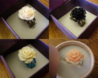 Choose adult adjustable, ring flower ring