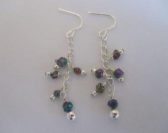 Rainbow Citrine Nugget Earrings