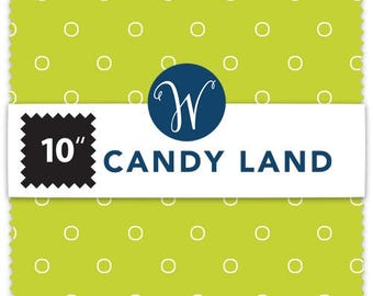 """Candy Land Layer Cake by Another Point of View for Windham Fabrics - Layer Cake Precuts, 42, 10""""x10"""" Squares, Layer Cakes Fabrics, LayerCake"""
