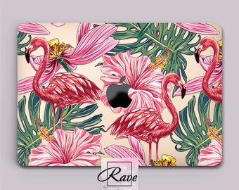 Pink Flamingo cover MacBook a1708 case laptop 15 inch MacBook pro 13 clear MacBook cute case MacBook air 11 hard case Tropical leaves 12 in