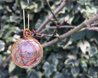 Wire bauble Christmas tree decorations