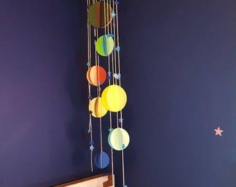 Solar System Mobile. Handmade paper mobile!!
