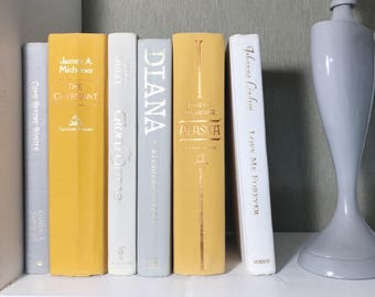 Yellow and Gray Decorative Book Set