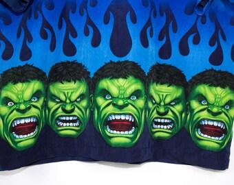 HULK flames shirt - vintage - short sleeve button down - marvel comics