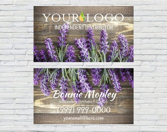 Custom Business Card, Essential Oil, Business Card, Printable, Lavender, Digital Download, Customizable Business Card, Vintage Style, Rustic