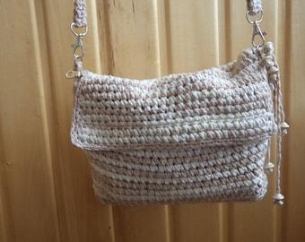 Crocheted gray bag