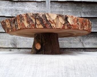 Log Slice Cake Stand Etsy Uk