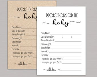 Baby Shower Baby Predictions Baby Prediction - Imagez co