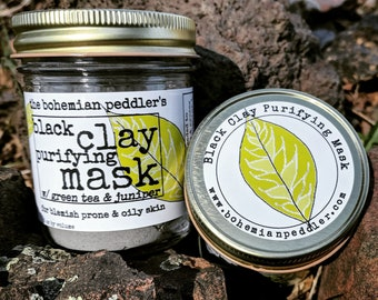 Black Clay Purifying Mask | Detox Mask | Bentonite Clay Mask | Mud Mask | Facial Mask | Armpit Detox | Charcoal Face Mask