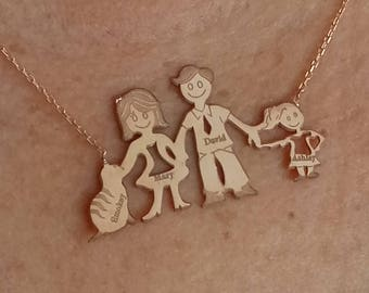 Personalized Family Name Necklace