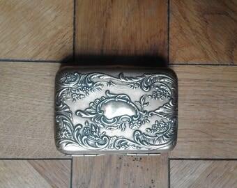 Case cigarette holder Belle Epoque with floral motifs