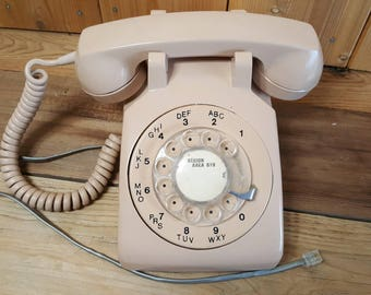 Vintage 1960's Rotary Telephone Retro Phone Northern Electric 500 Series Made in Canada Decorative Phone
