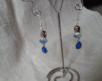 """Earrings """"two-color faceted beads"""""""
