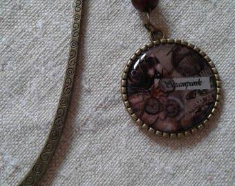 beautiful steampunk style bookmark