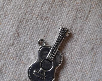"set of 5 ""Guitar"" charm in silver"