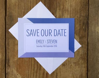 Geometric patterned wedding save the date | Wedding save the dates | Unique wedding save the date cards | GEOMETRIC |