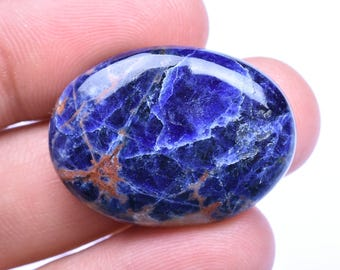 Natural SODALITE OVAL CABOCHON 20x28x5mm 22 Cts (3037-38)
