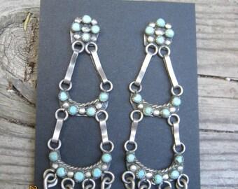 Vintage Zuni Earrings-1960's  NOW ON SALE!