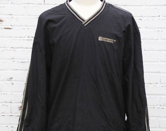 90's Vintage COLORADO BUFFALOES Pullover Jacket Windbreaker Buffs Boulder Colorado CU Pac 12 Black and Gold Ralphie Size Large