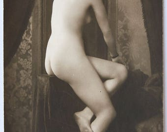 Original photo MANDEL risque PLAIN BACK french nude Art Deco postcard femme nue erotique glamour cpa