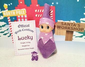 Baby Elf Lucky The Shelf Sitter Doll