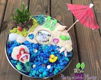 Mermaid Garden Kit, Succulent, Fairy Garden kit, Mermaid Craft, Mermaid Birthday Party, Mermaid Gift, Mermaid Game, Fairy Mermaid, Mermaid