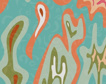 tissu patchwork turquoise ANDOVER Desert Bloom