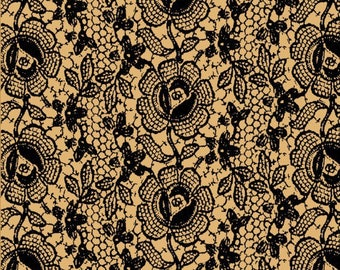beige and black pattern patchwork fabric lace by Blank Quilting fabrics