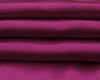 "Apparel Fabric, Home Decor Fabric, Dressmaking Fabric, Silk Satin Fabric, 44"" Inch Magenta Fabric By The Yard PFSS4A"