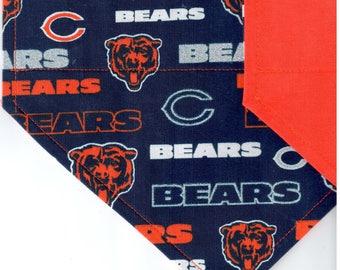 Chicago Bears Glitter Bandana | Dog Bandana | Over the Collar Dog Bandanas | Custom Dog Bandana