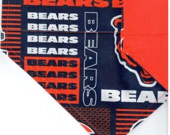 Chicago Bears Patch Bandana | Dog Bandana | Over the Collar Dog Bandanas | Custom Dog Bandana
