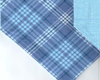 Light Blue Plaid Flannel Bandana | Dog Bandana | Puppy Bandana | Over the Collar Dog Bandanas | Custom Dog Bandana