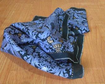 Vintage Anna Sui Handkerchief Anna Sui Scarf