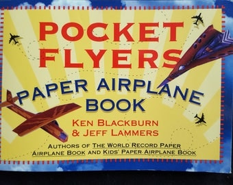 Pocket Flyers Paper Airplane Book Workman Publishing Origami 69 Plans 1998 USA