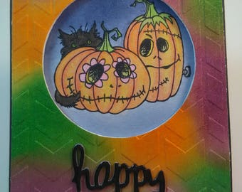 Happy Halloween Card, Handmade Card, Handmade Halloween Card, Handmade Happy Halloween Card, Halloween Card